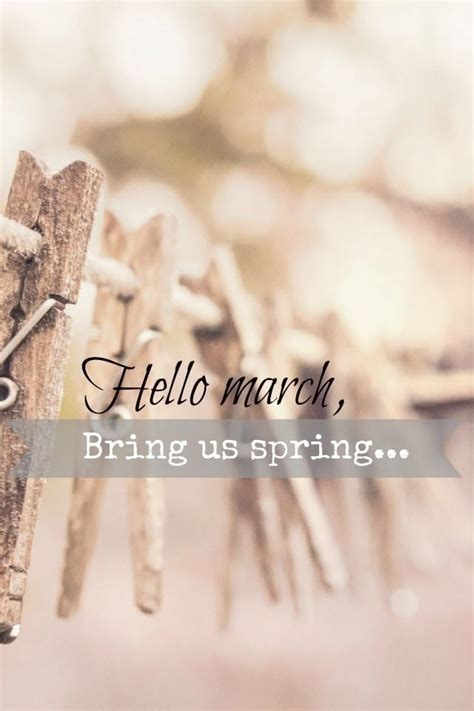 Hello March Bring Us Spring Pictures, Photos, and Images