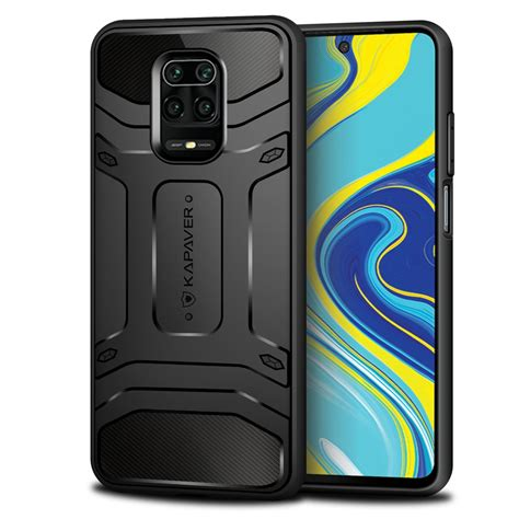 KAPAVER® Rugged Back Cover Case for Xiaomi Redmi Note 9