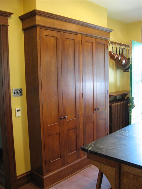 Cool freestanding pantry in Kitchen Eclectic with Narrow