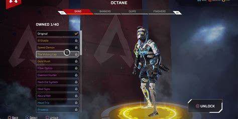 Apex Legends Octane Skins, Banners, Finishers & Quips