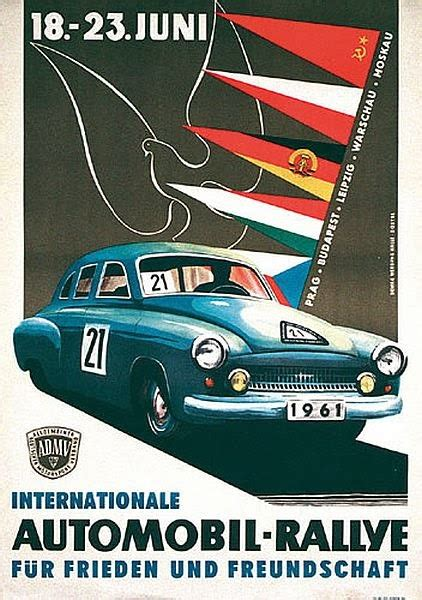 transpress nz: DDR automobile rally poster, 1961
