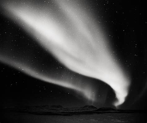 Northern Lights in Black and White — Landscape Photography