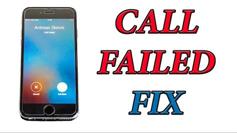 How To Fix IPhone 6 Call Failed Issue / Problem - YouTube
