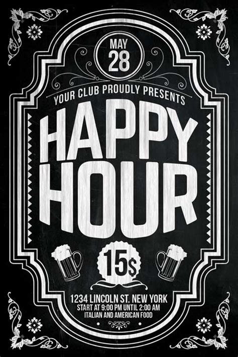 Happy Hour Flyer Template PSD Download - XtremeFlyers