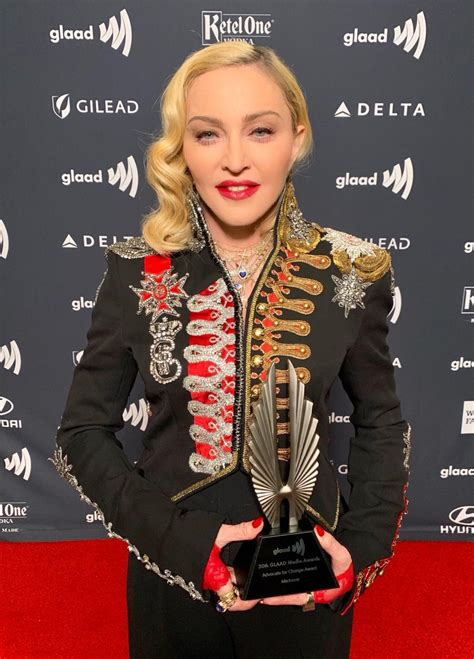 Madonna receives Advocate for Change Award at the 2019