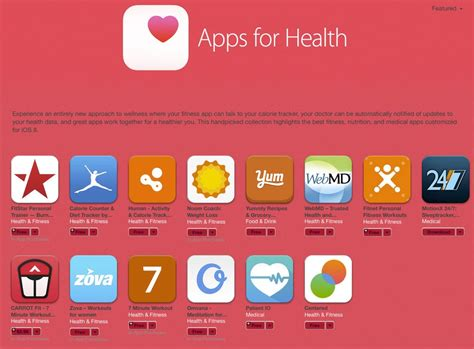 'Apps for Health' section hits App Store following Apple's