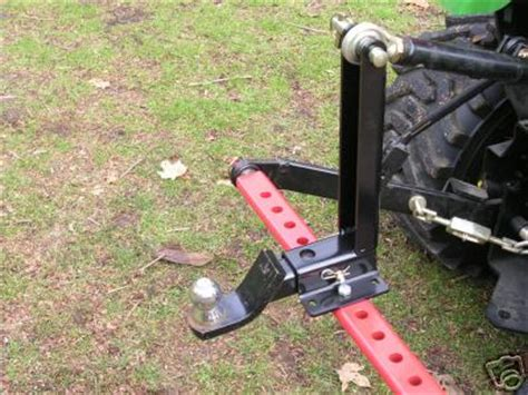 Tractor draw bar stabilizer for 3PT hitch