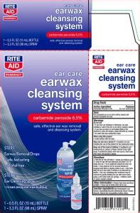 Ear Wax Removal System Rite Aid (Rite Aid): FDA Package Insert
