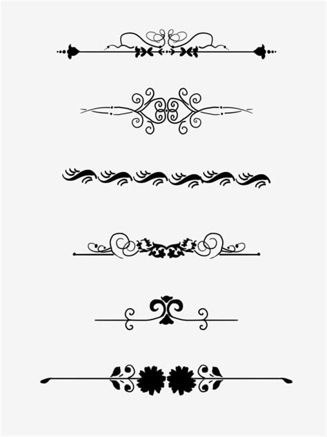 European Border Pattern Dividing Line Commonly Used Retro