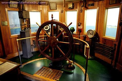 Stock Photo titled: Interior Of The Wheelhouse Of An Early
