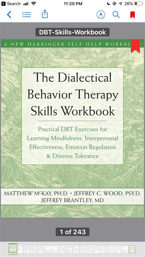 What do you know about this book? Anyone work on DBT