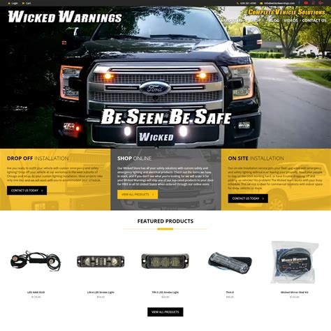 LIN-4 LED Strobe Light   Wicked Warnings   Safety Vehicle