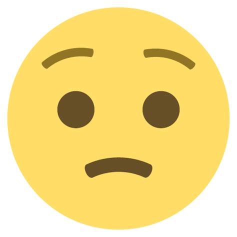 Worried Face Emoji for Facebook, Email & SMS   ID#: 38