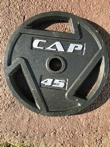 """CAP Barbell Olympic 2"""" Grip Plates 45 LB Weights   eBay"""