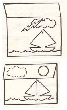 Jesus Calms the Storm-- fold a part of the page to have