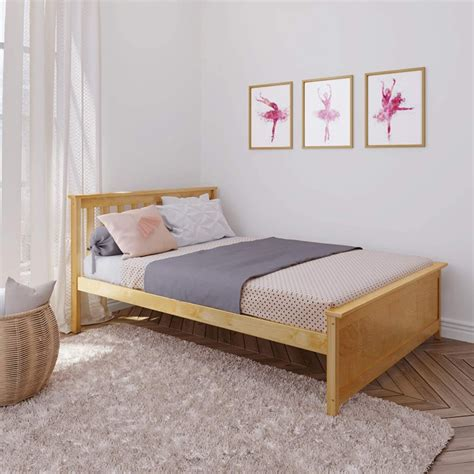 Max & Lily - Natural - Full Size Platform Bed - Solid Wood